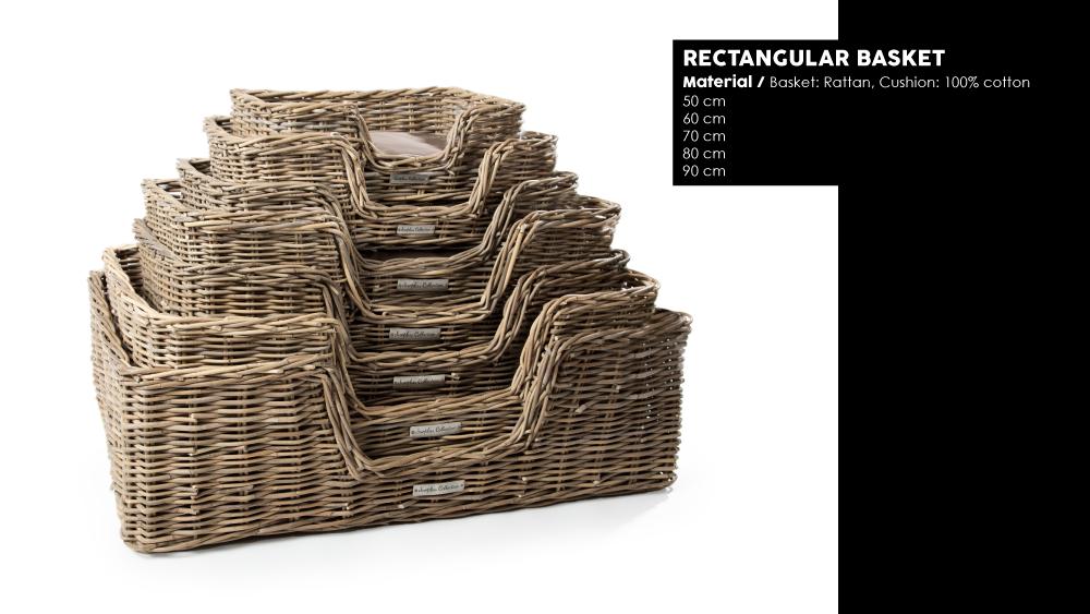 51 Degrees North Woven5 rectangular basket