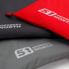 Thumbnail for All Year Storm collection pillows in colors Fire red, Imperial Grey and Rocky Grey