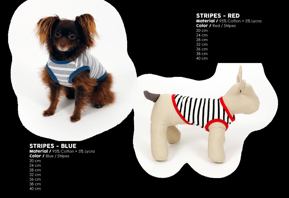 T-shirt dress summer 2017 stripes red blue dog