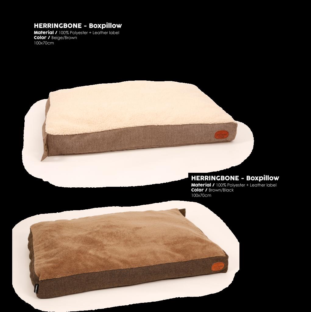Herringbone Brown Boxpillow