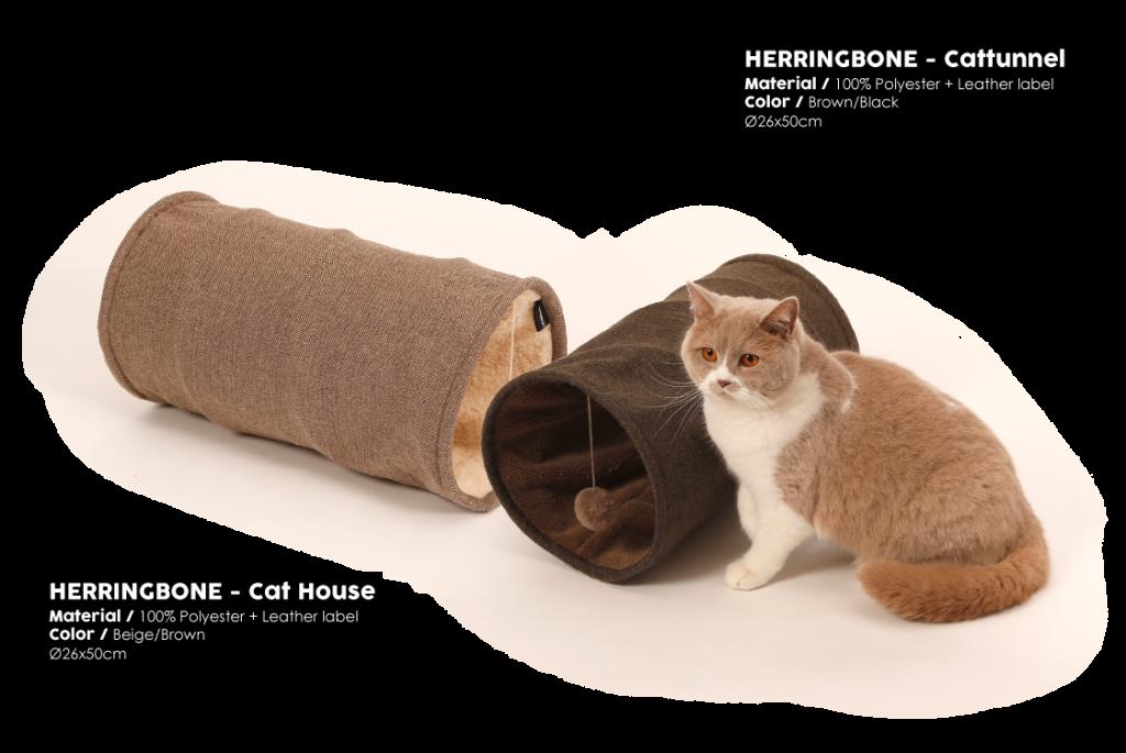 Herringbone Brown Cattunnel