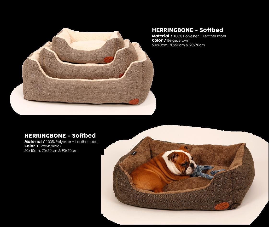 Herringbone Brown Softbed