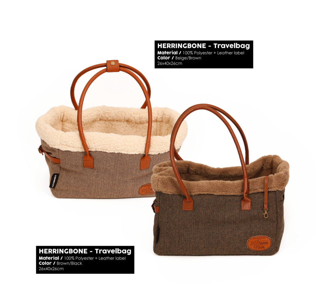 Herringbone Brown Travelbag