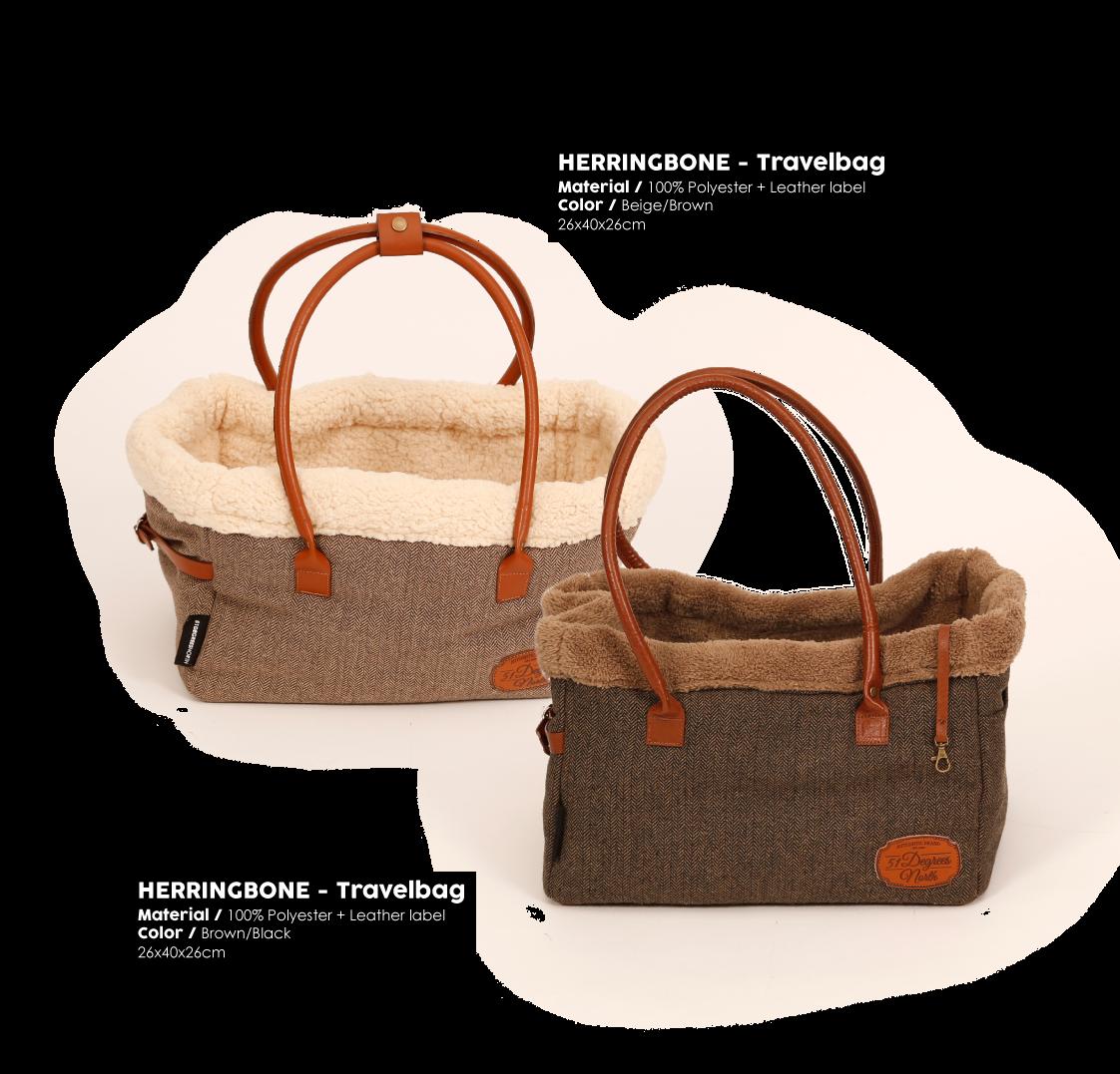 Herringbone Brown Travelbag