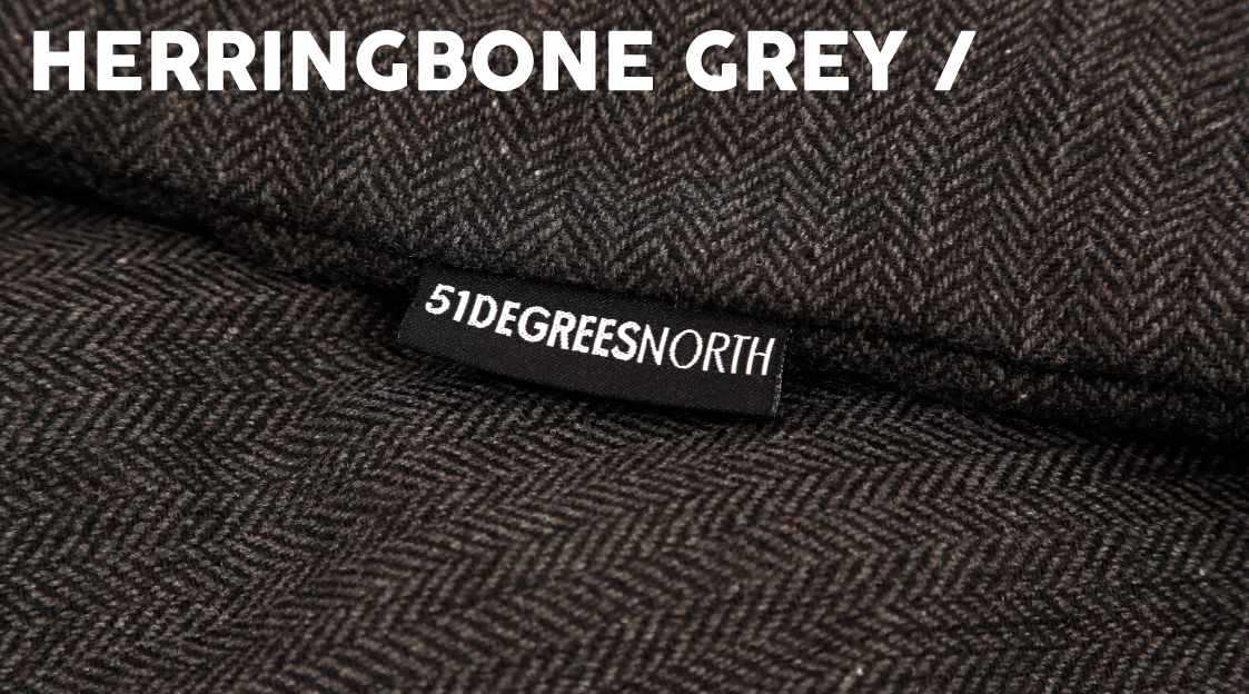 Herringbone Grey Banner