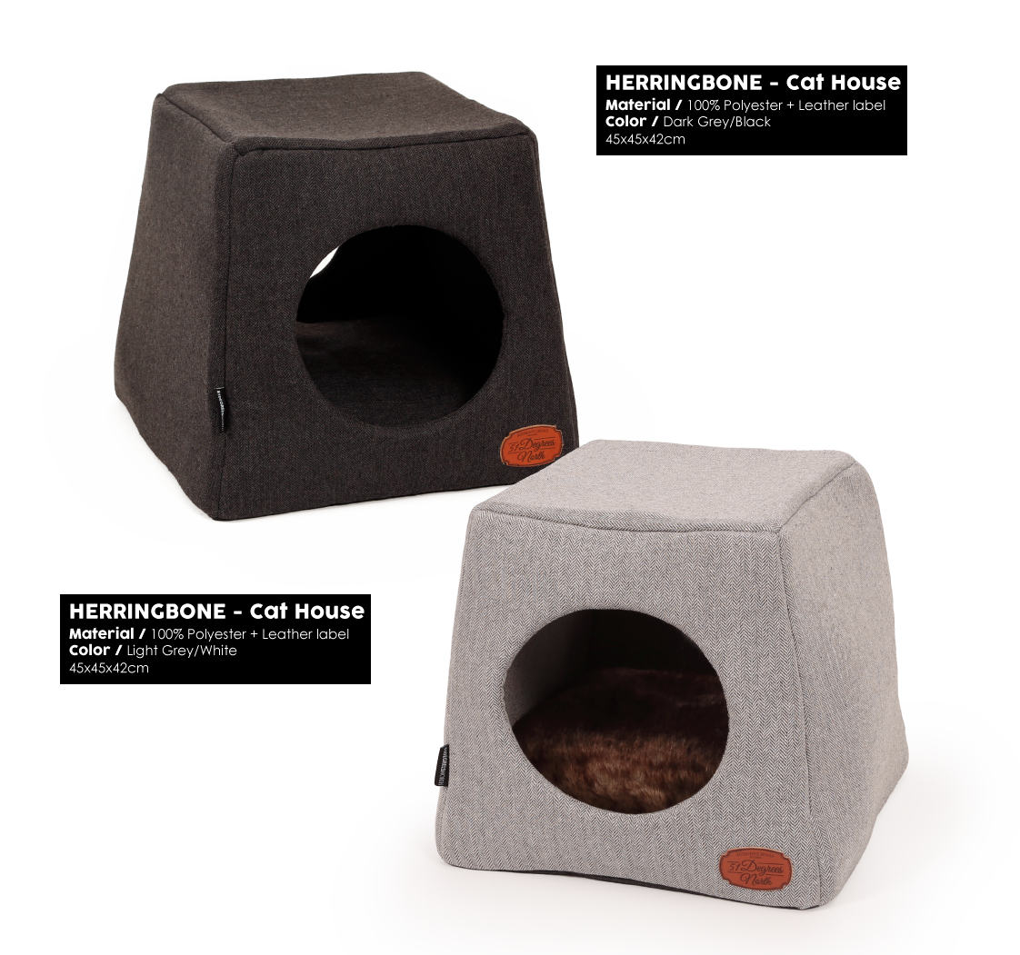 Herringbone Grey Cathouse