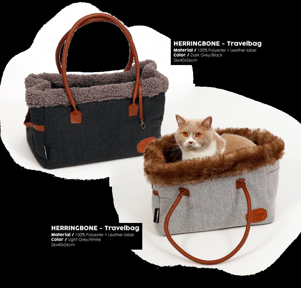 Herringbone Grey Travelbag