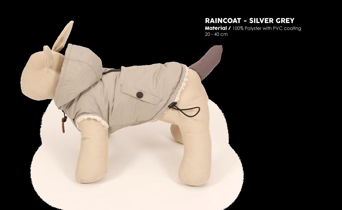 Rain coat Silver Grey
