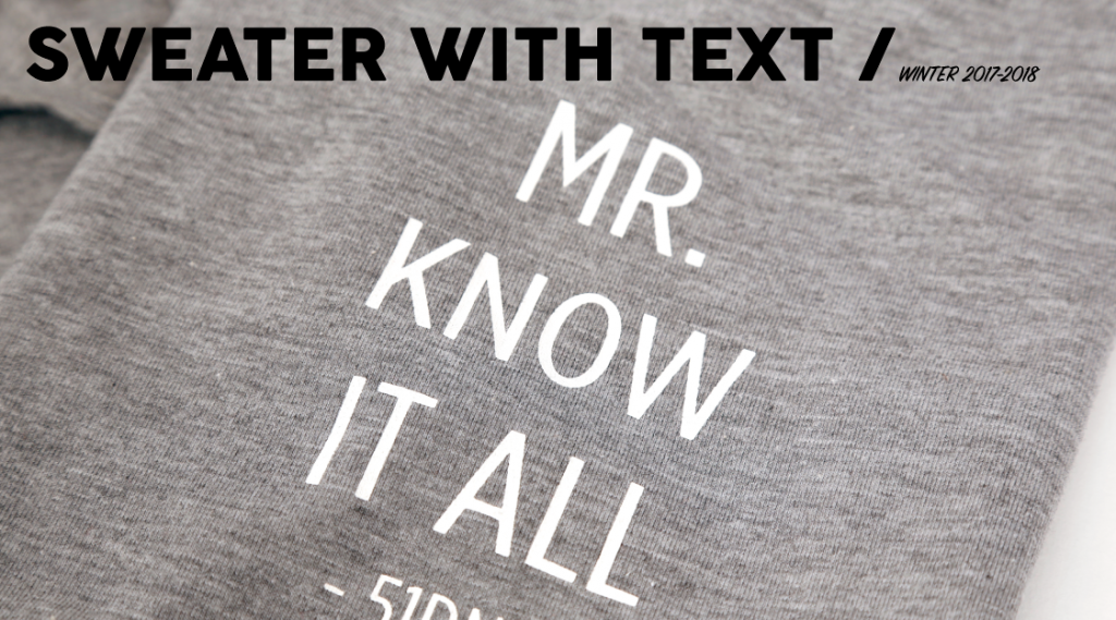 Sweater with text Banner