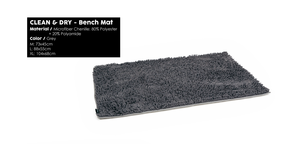 Clean & Dry Bench Mat Grey