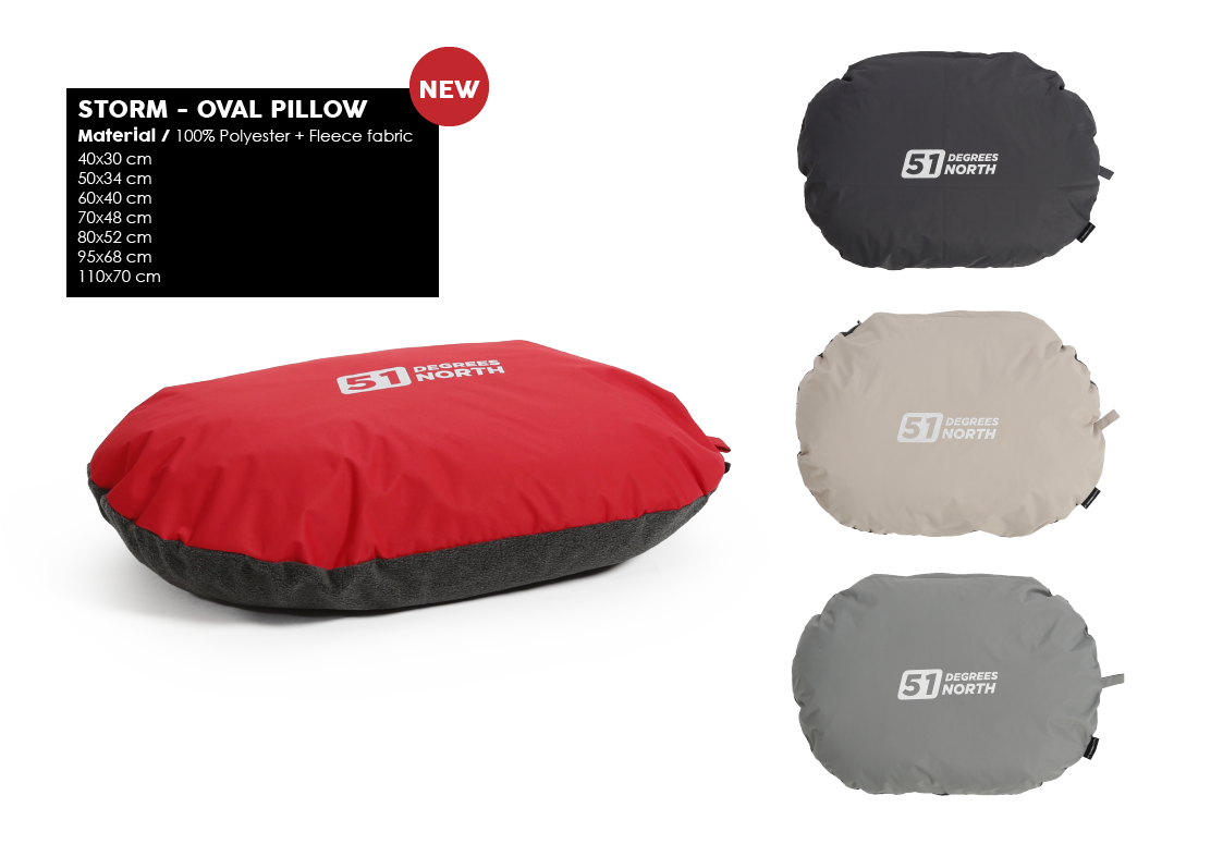 51 Degrees North Storm Oval Pillow