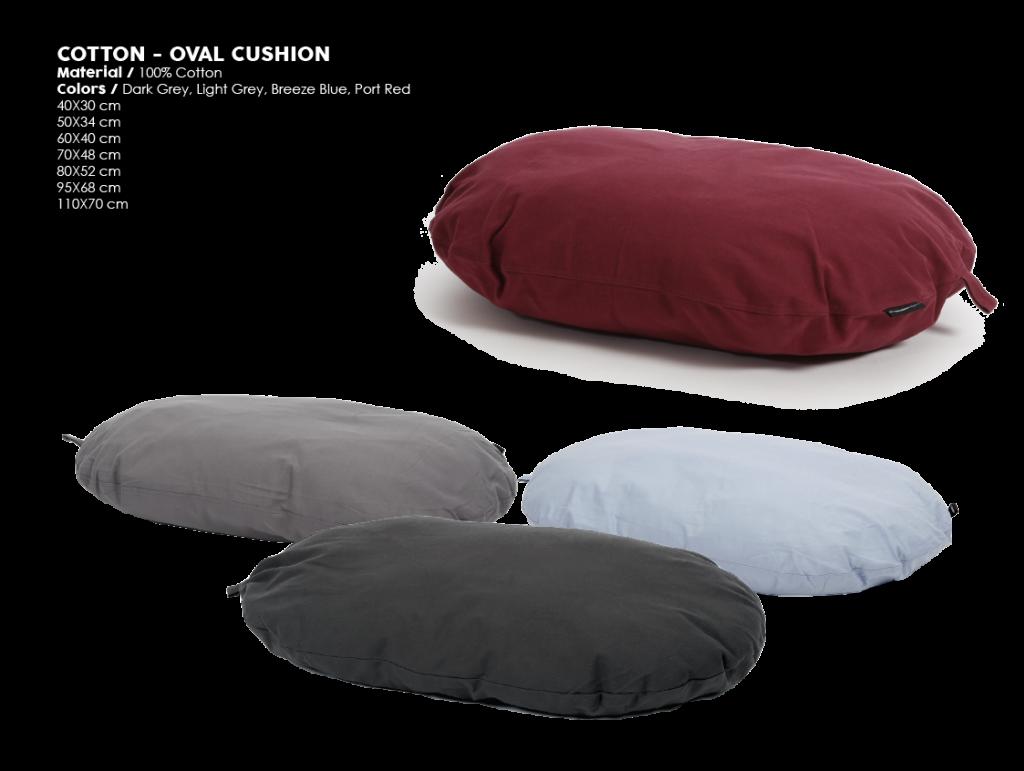 51DN Cotton Oval cushion 2