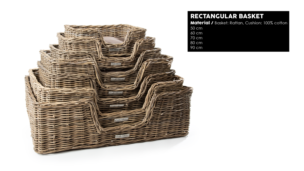 51 Degrees North Woven5 rectangular basket