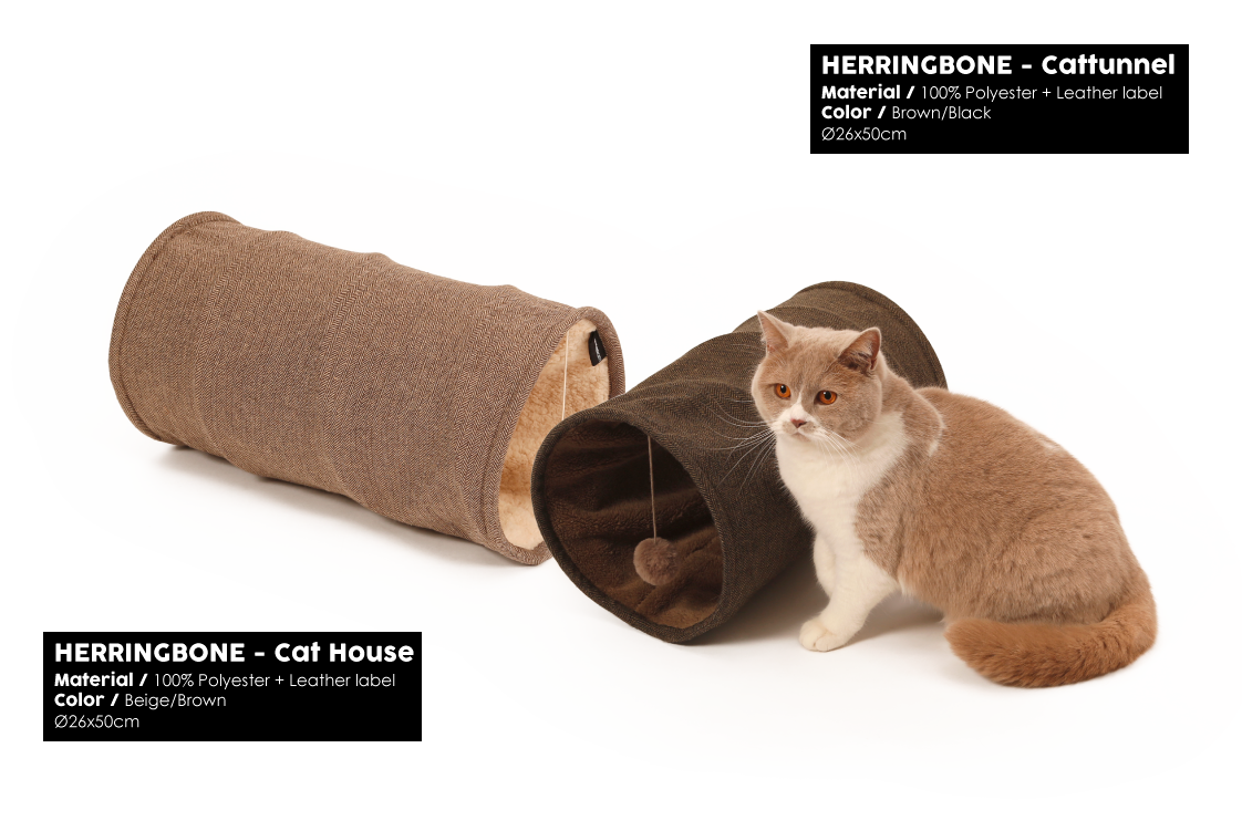 Herringbone Brown Cattunnel