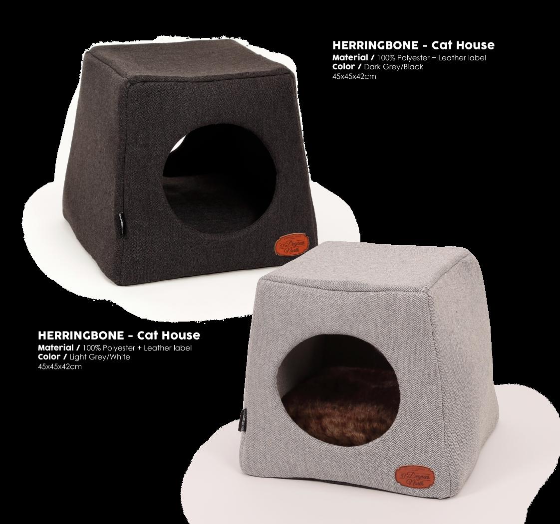 Herringbone Grey Cathouse