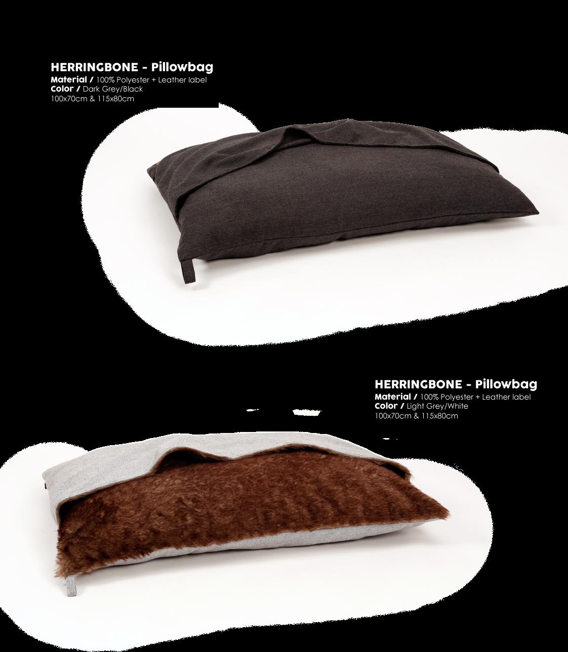 Herringbone Grey Pillowbag