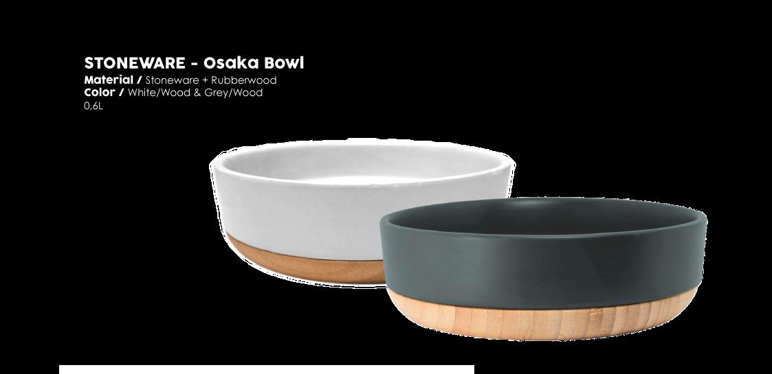 Stoneware Osaka bowl