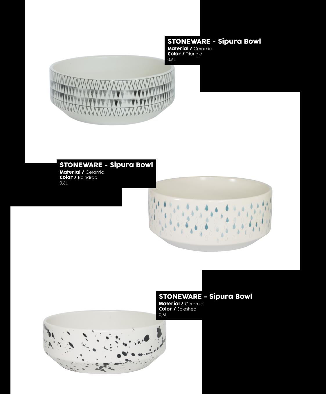 Stoneware Sipura bowl