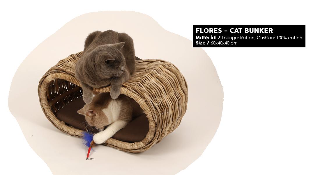 51DN Woven Cat FLORES CAT BUNKER