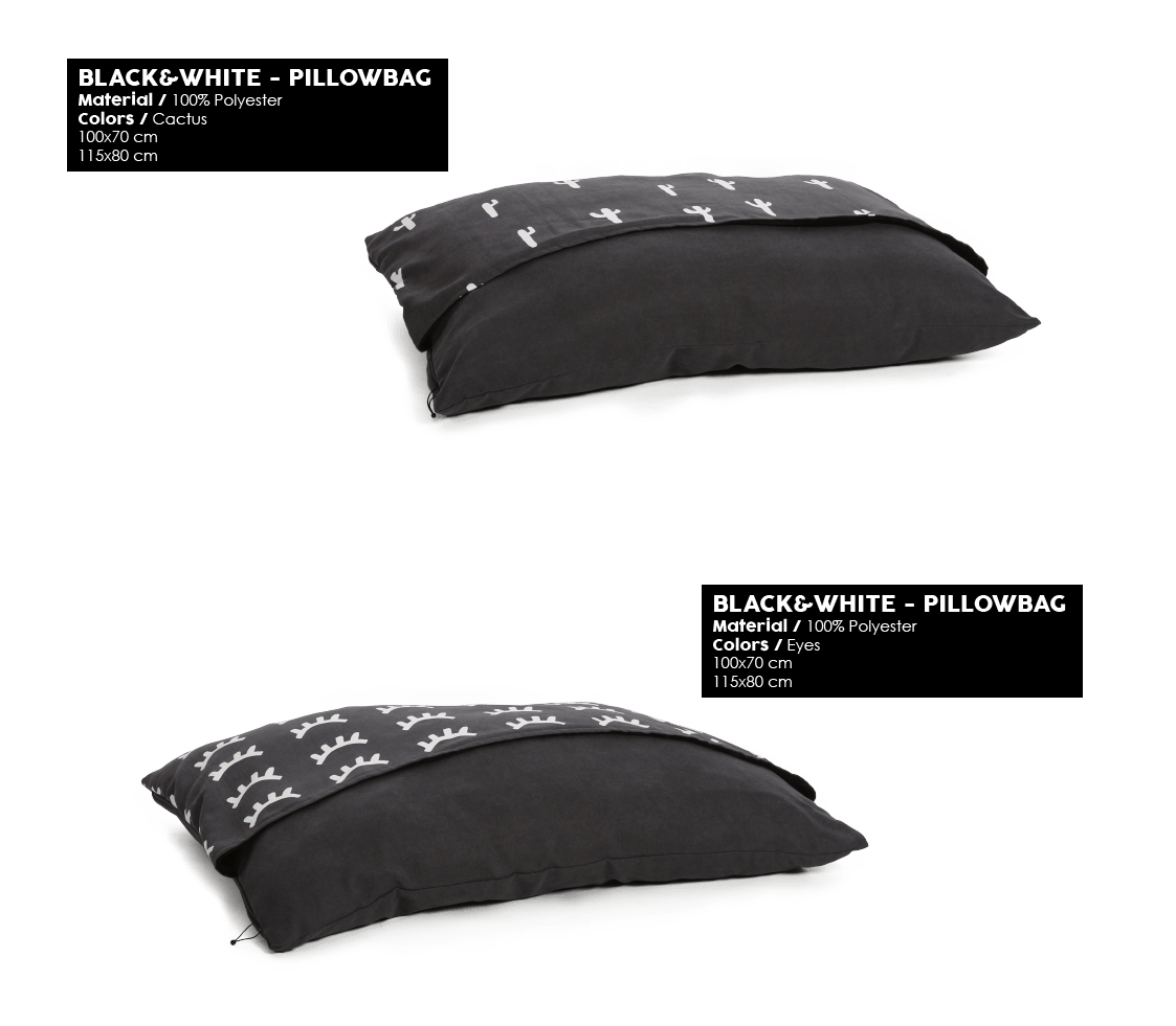 51 Degrees North - Black&White - Pillowbag
