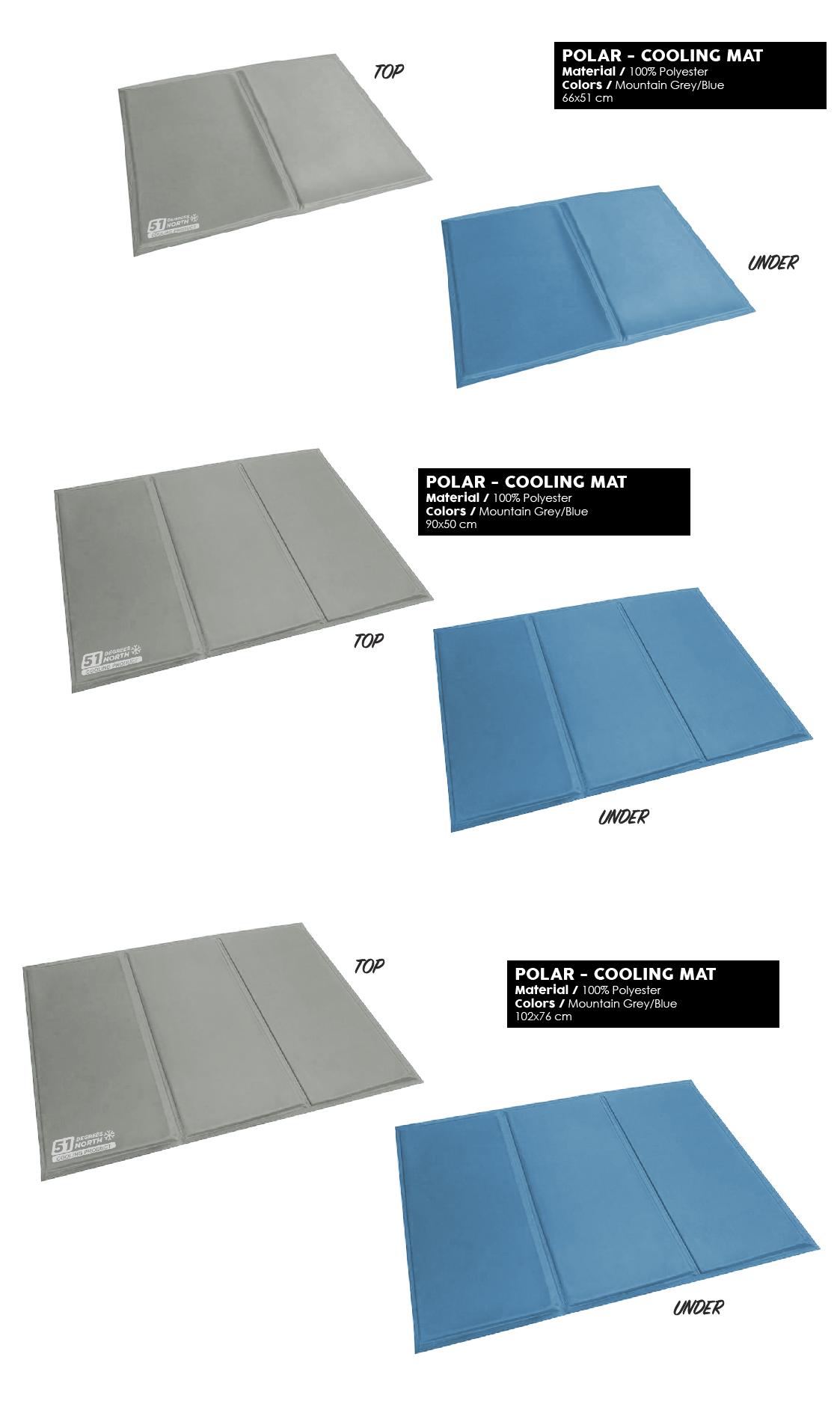 51 Degrees North Sleep Polar cooling mat mountain grey blue