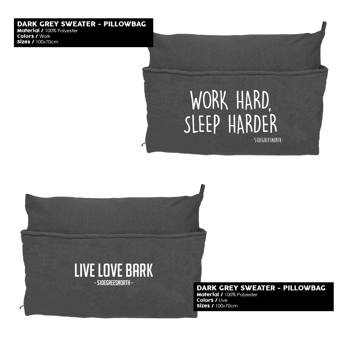 51 Degrees North Sleep Winter 2019 Dark Grey Sweater Pillowbag