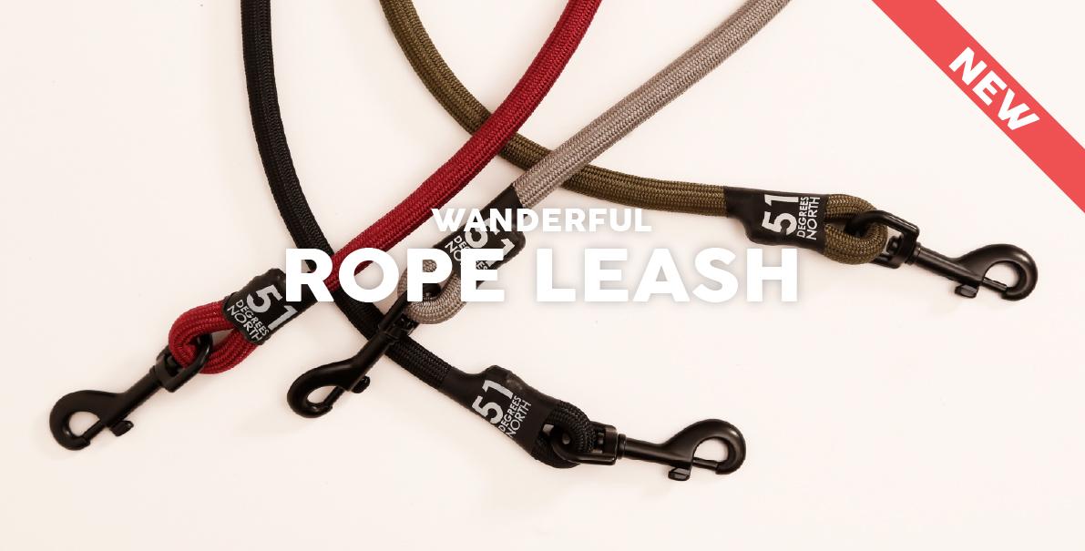 51DegreesNorth Walk Wanderful Rope Leash New