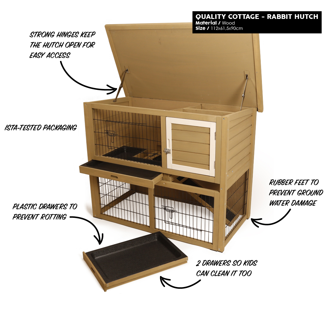 Mr.Woodson - Quality Cottage - Rabbit Hutch - Products1