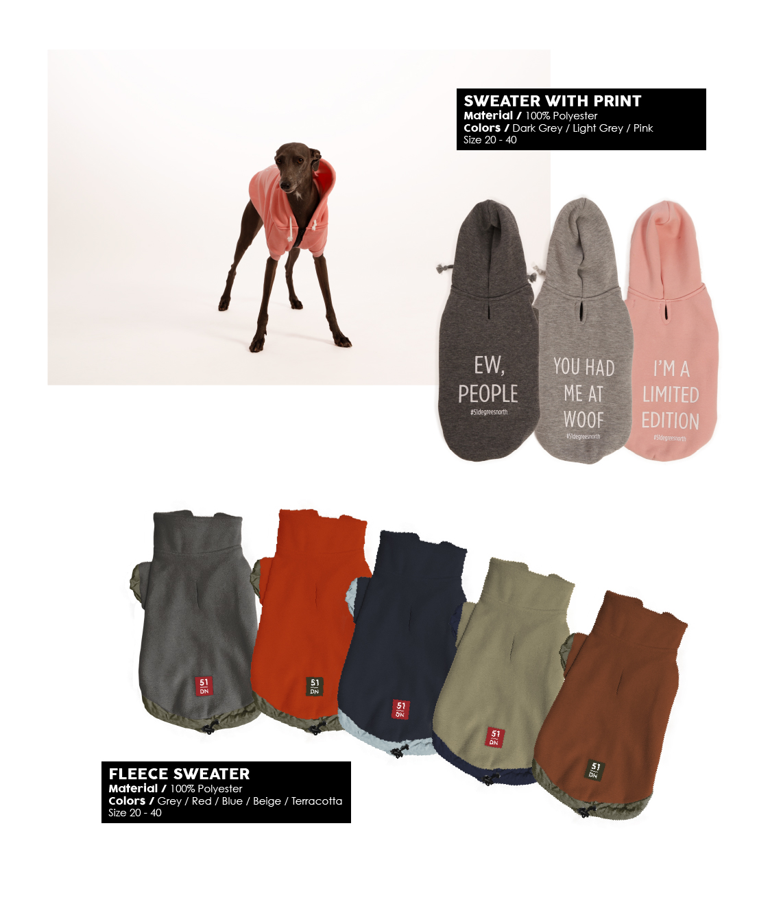 W20 - Dogcoats - Sweater print - Fleece