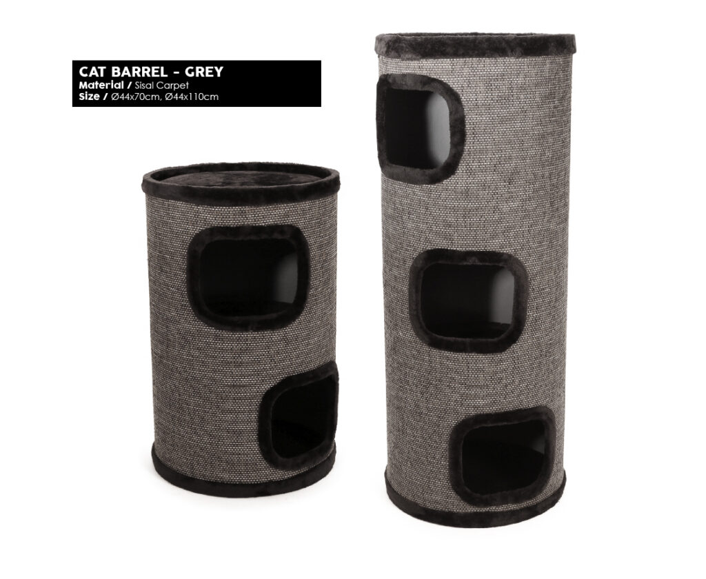 Products we Love - Cat Barrel - Grey - Product