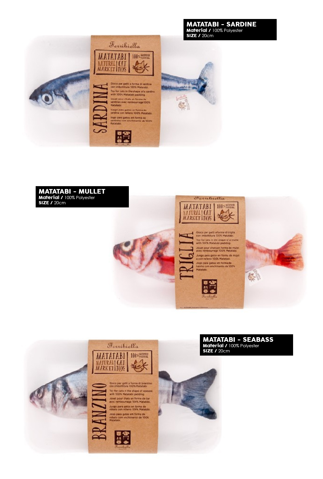 Products we Love - Ferribiella Matatabi - Fish